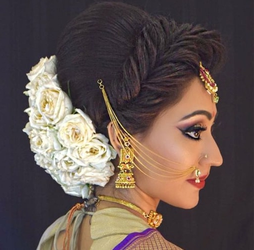12 Popular South Indian Bridal Hairstyles Within Indian Bridal Long Hairstyles (View 5 of 25)
