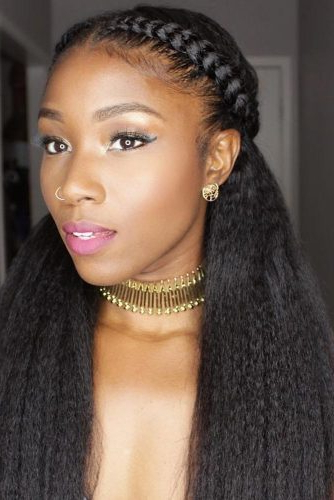 12 Quick Natural Hairstyles That Are Perfect For Valentine's Day For Long Hairstyles Natural (View 3 of 25)