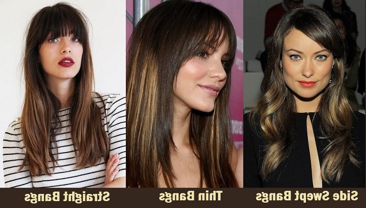 12 Suitable Bangs Styles For Women With Square Faces For Best Long Haircuts For Square Faces (View 25 of 25)