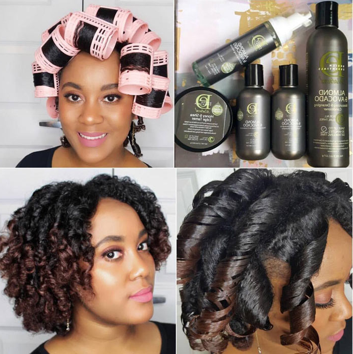 12 Tips For A Perfect Roller Set On Natural Hair | Naturallycurly Inside Long Hairstyles Using Rollers (View 11 of 25)