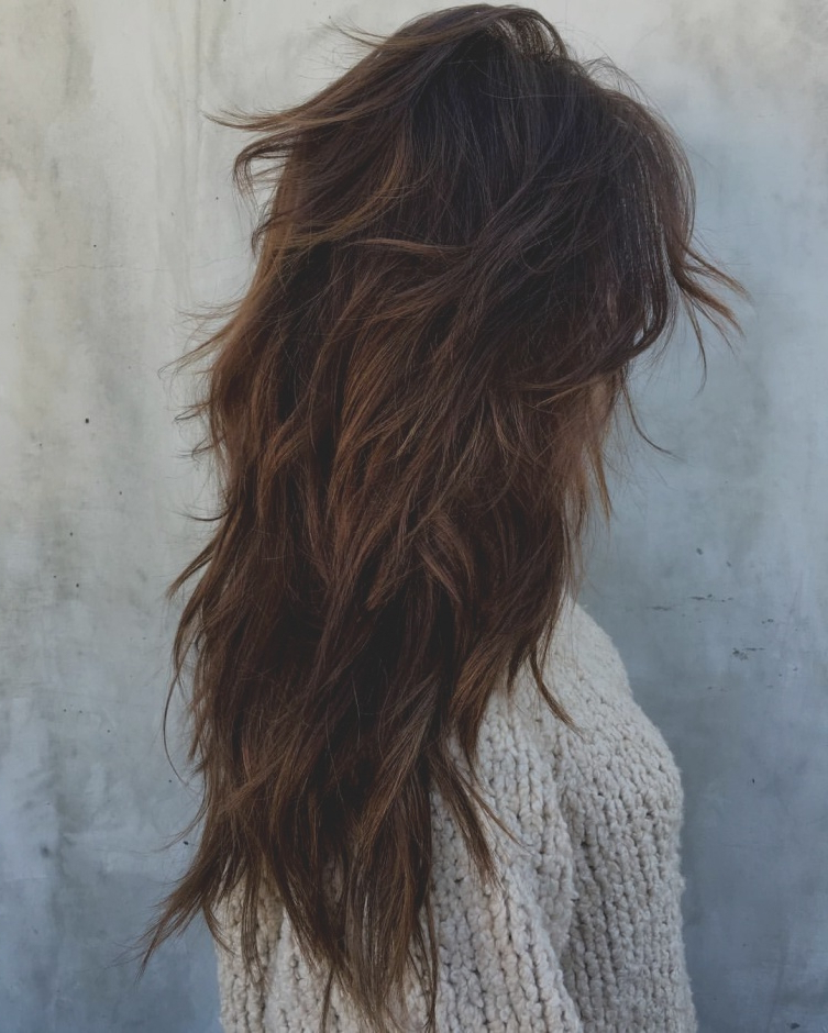 12 Wonderful Of Choppy Layered Hairstyles For Long Hair Piecey Regarding Choppy Layered Long Haircuts (View 25 of 25)