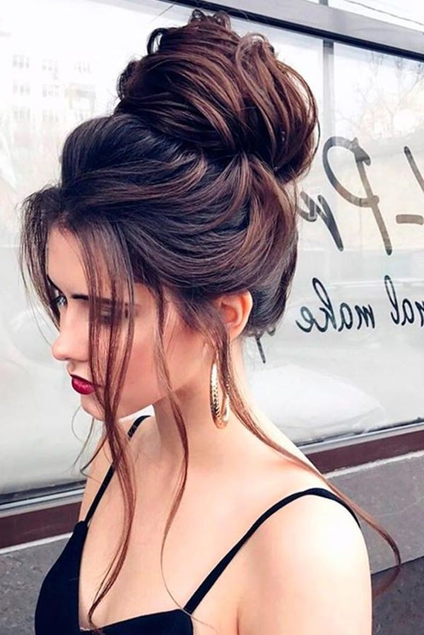 120 Stunning Prom Hair That Will Make The Event Rocking Within Messy High Bun Prom Updos (View 17 of 25)