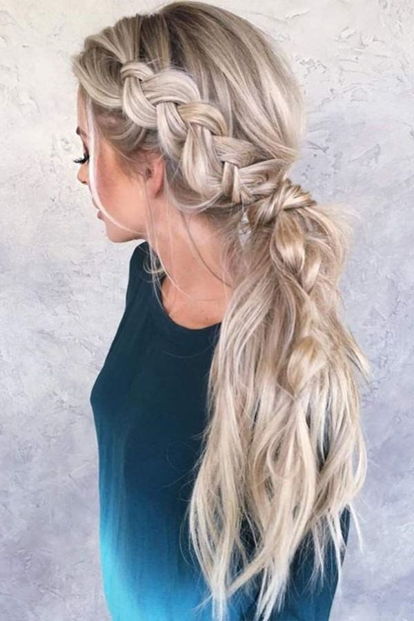 125 Artistic Braided Ponytails For 2019 With Long Hairstyles Ponytail (View 25 of 25)