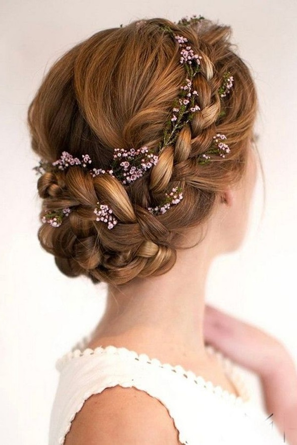 125 Prom Hairstyles For A Queenly Vibe Regarding Messy Bun Prom Hairstyles With Long Side Pieces (View 17 of 25)
