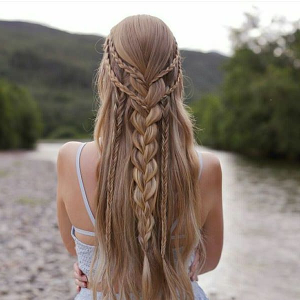 135 Chic And Stylish Waterfall Braids You Might Want To Try Regarding Chic Waterfall Braid Prom Updos (View 12 of 25)