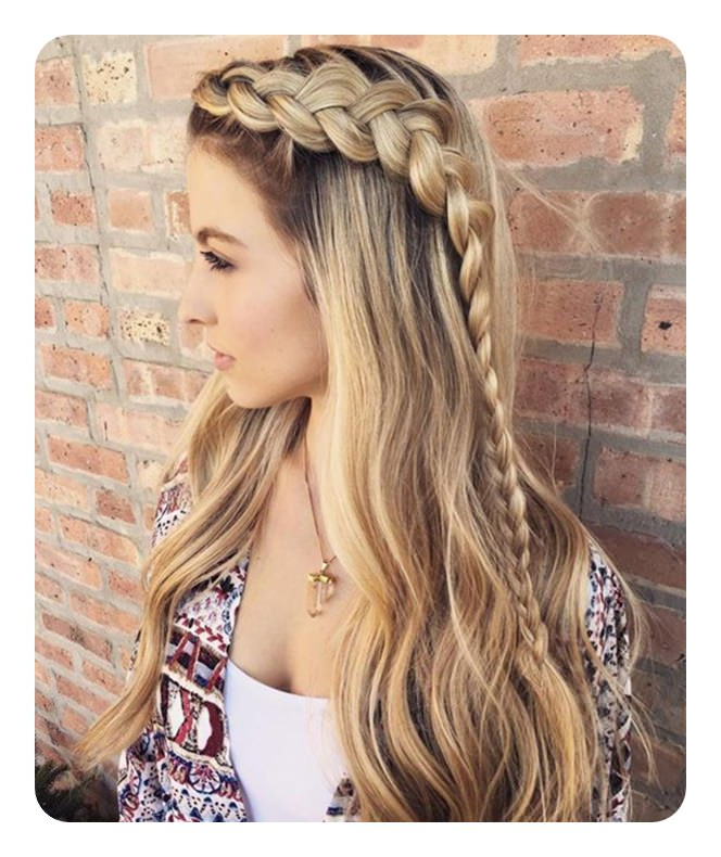 135 Cute And Easy Hairstyles To Do When You're Running Late Throughout Cute Braided Hairstyles For Long Hair (View 17 of 25)