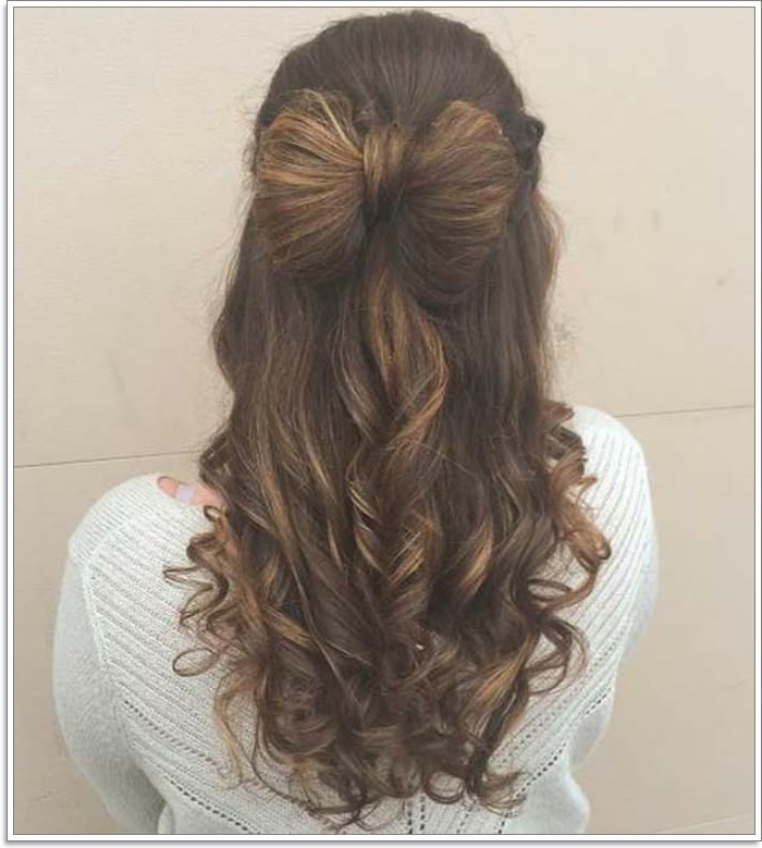 135 Whimsical Half Up Half Down Hairstyles You Can Wear For All For Long Layered Half Curled Hairstyles (View 6 of 25)