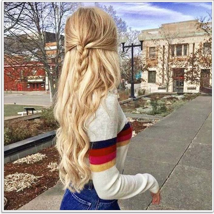 135 Whimsical Half Up Half Down Hairstyles You Can Wear For All In Half Up Hairstyles For Long Straight Hair (View 24 of 25)