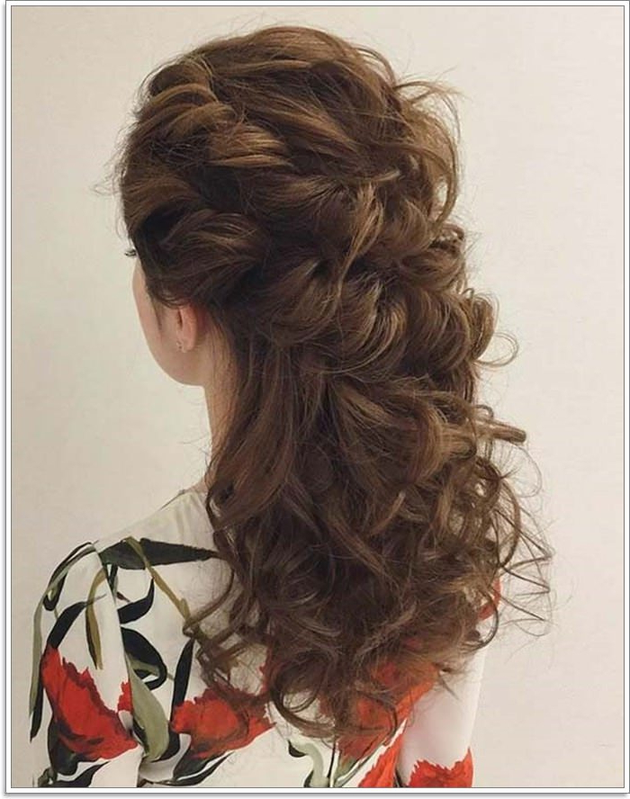135 Whimsical Half Up Half Down Hairstyles You Can Wear For All In Long Layered Half Curled Hairstyles (View 9 of 25)