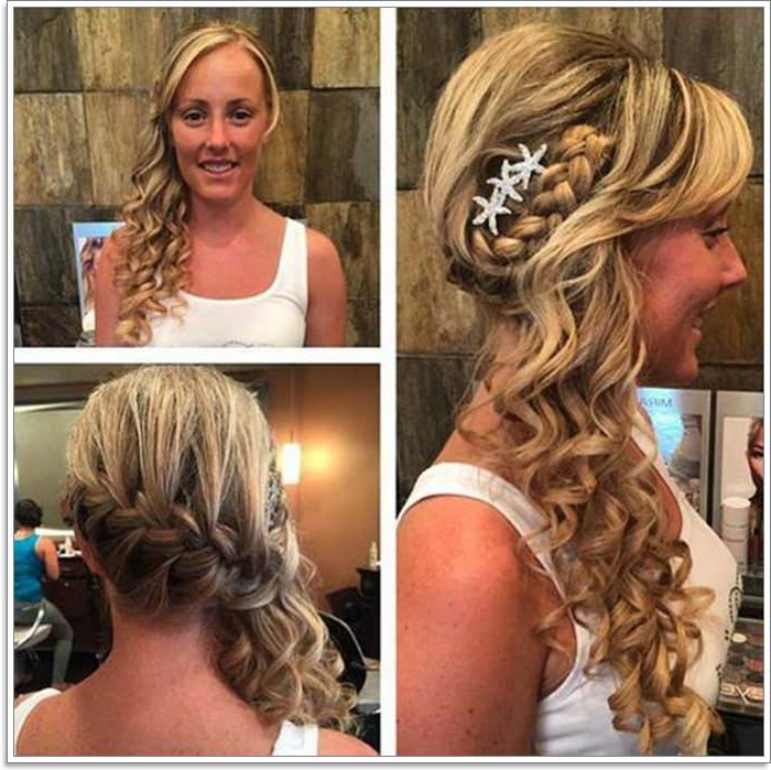 135 Whimsical Half Up Half Down Hairstyles You Can Wear For All In Side Bun Prom Hairstyles With Jewelled Barrettes (View 25 of 25)