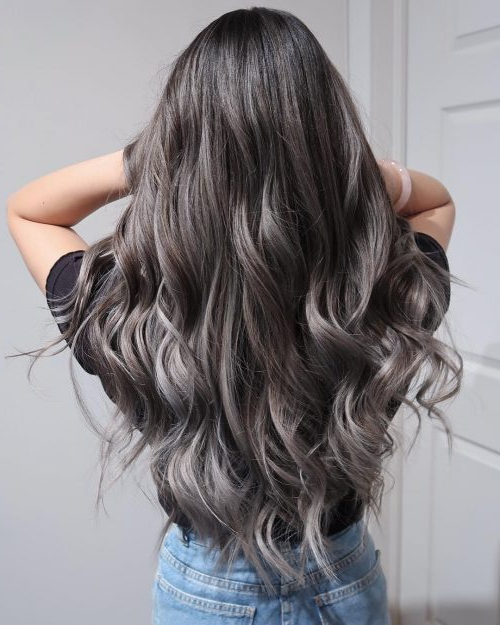 14 Balayage On Black Hair Ideas Trending In 2019 Intended For Long Thick Black Hairstyles With Light Brown Balayage (View 6 of 25)