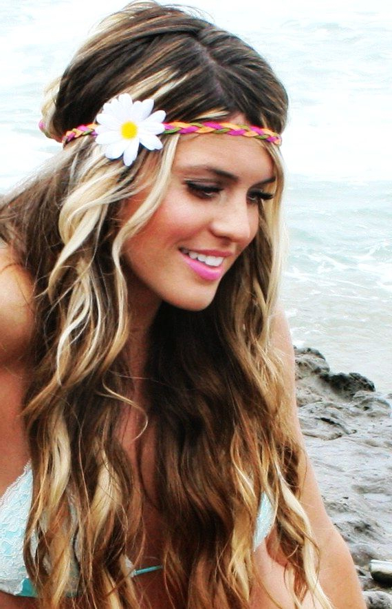 14 Glamorous Hairstyles With Headbands – Pretty Designs In Long Hairstyles With Headbands (View 12 of 25)