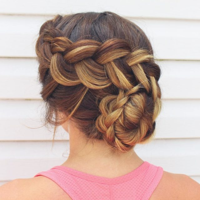 14 Prom Hairstyles For Long Hair That Are Simply Adorable With Classic Prom Updos With Thick Accent Braid (View 3 of 25)