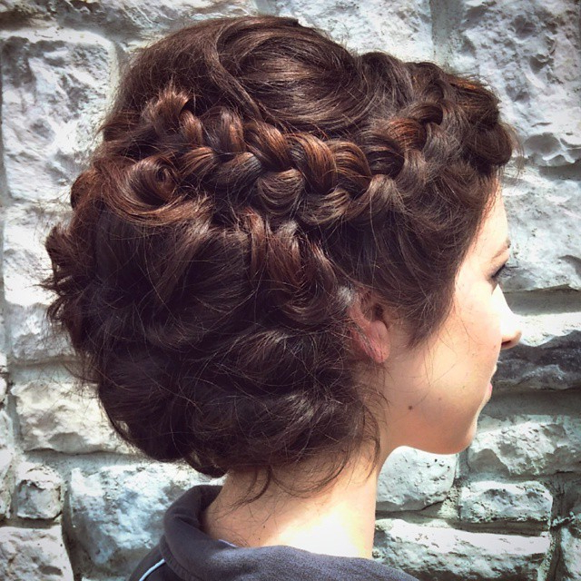 14 Prom Hairstyles For Long Hair That Are Simply Adorable Within Side Bun Twined Prom Hairstyles With A Braid (View 20 of 25)