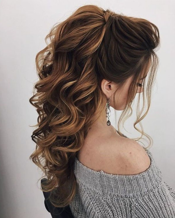145 Exquisite Wedding Hairstyles For All Hair Types With Wedding Long Hairdos (View 17 of 25)