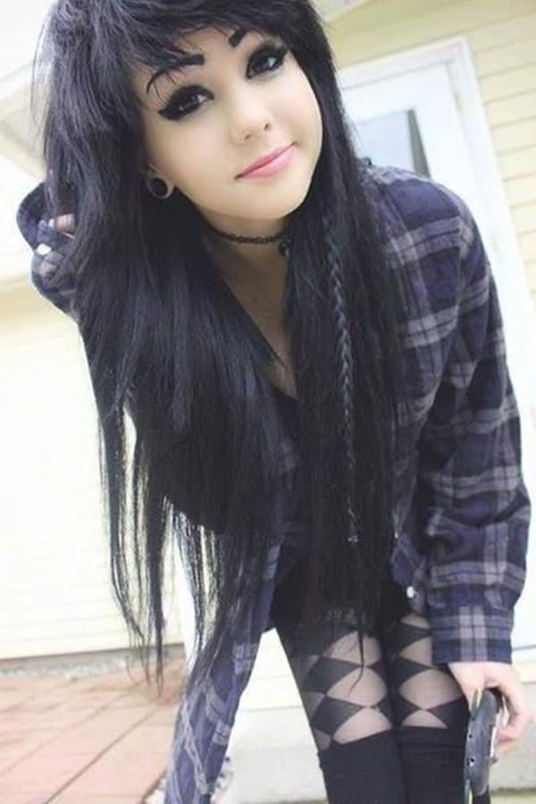 146 Awesome Emo Hairstyle For Every Girls Pertaining To Long Emo Hairstyles (View 13 of 25)