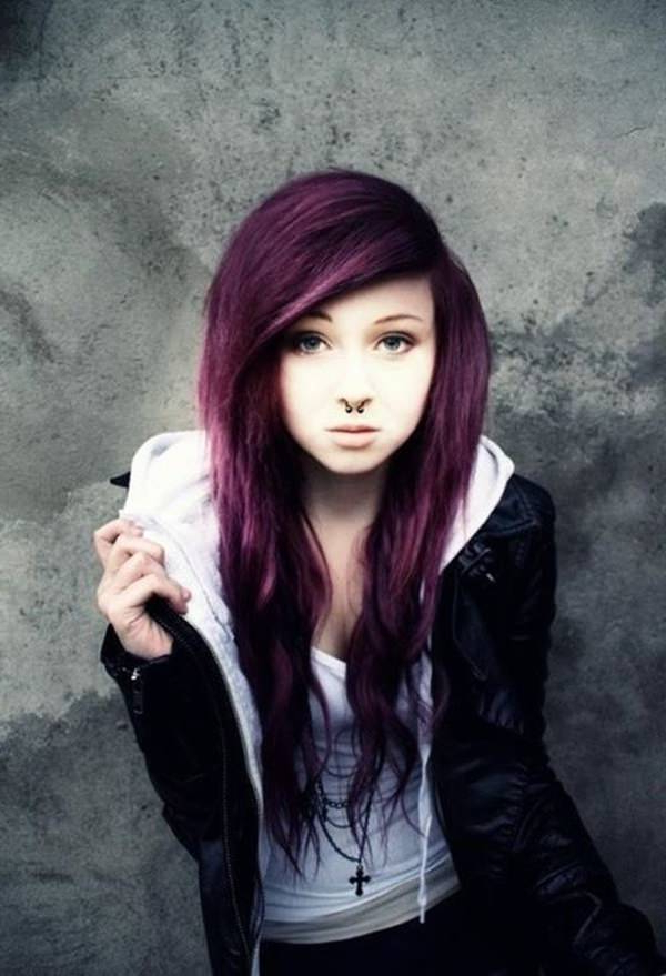 146 Awesome Emo Hairstyle For Every Girls Pertaining To Long Hairstyles Emo (View 20 of 25)