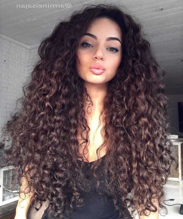 15 Best Big Curly Hair For Beautiful Women   H A I R !   Curly Hair Inside Curly Hair Long Hairstyles (View 22 of 25)