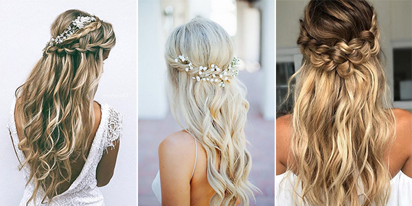 15 Chic Half Up Half Down Wedding Hairstyles For Long Hair With Regard To Long Hairstyles Up And Down (View 16 of 25)