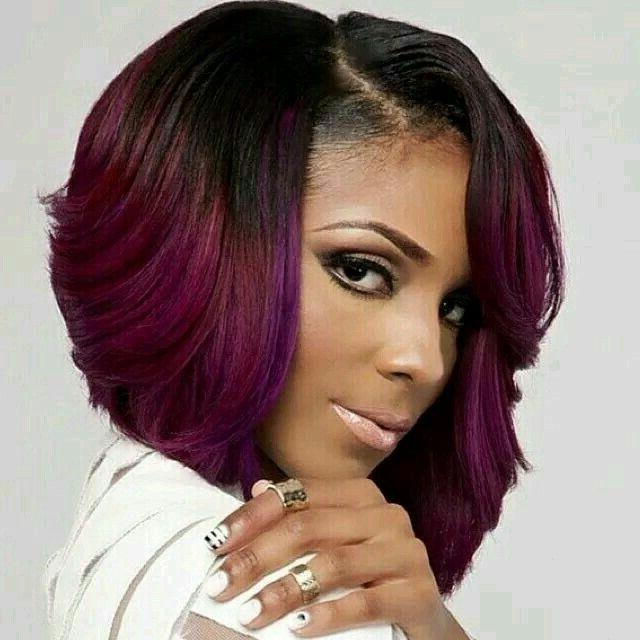 15 Chic Short Bob Hairstyles: Black Women Haircut Designs – Popular Within Long Black Bob Haircuts (View 17 of 25)