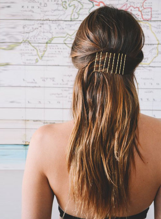 15 Easy Bobby Pin Hairstyles That Are Actually Pretty In Long Hairstyles With Bobby Pins (View 11 of 25)