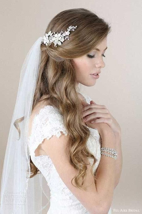15 Photo Of Long Hairstyles Veils Wedding | Wedding Ideas | Wedding With Regard To Long Hairstyles Veils Wedding (View 6 of 25)