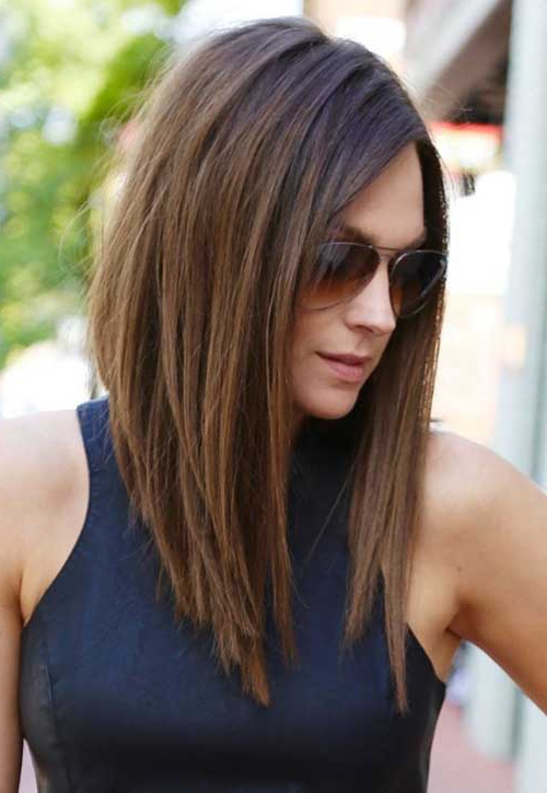 15 Popular Brunette Bob Hairstyles Within Brunette Long Haircuts (View 11 of 25)