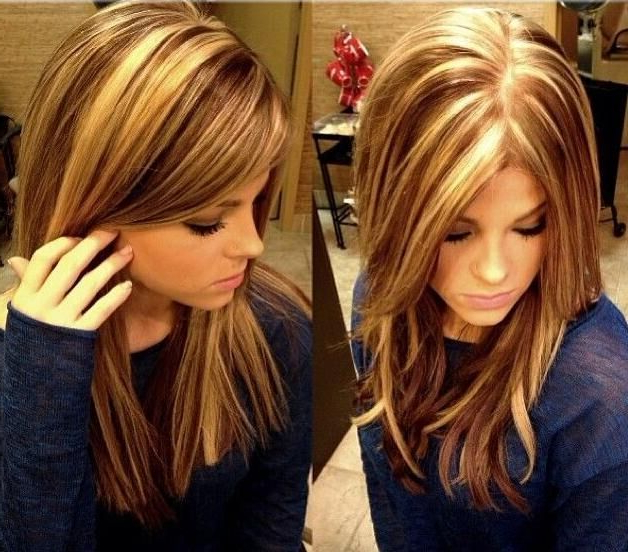 15 Pretty Hairstyles For Medium Length Hair – Page 2 Of 5 – Popular Pertaining To Long Hairstyles And Highlights (View 12 of 25)
