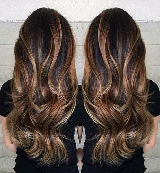 15 Seriously Gorgeous Hairstyles For Long Hair | Hair | Cabello With Long Hairstyles Brown With Highlights (View 7 of 25)