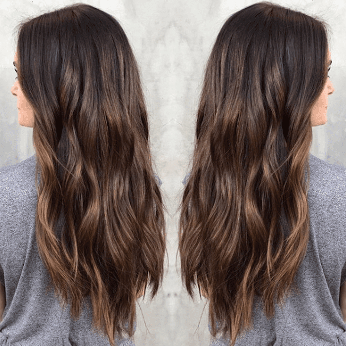 15 Stunning Examples Of Balayage Brown Hair In Long Thick Black Hairstyles With Light Brown Balayage (View 12 of 25)
