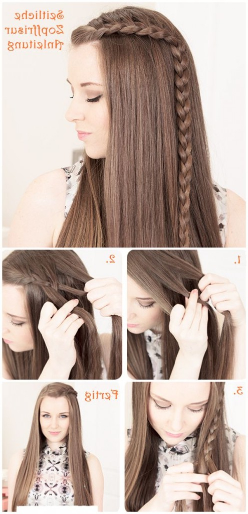 15 Stylish Half Up Half Down Tutorials – Pretty Designs With Long Hairstyles Down Straight (View 7 of 25)
