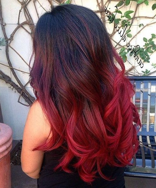 Featured Photo of Long Hairstyles Red Ombre