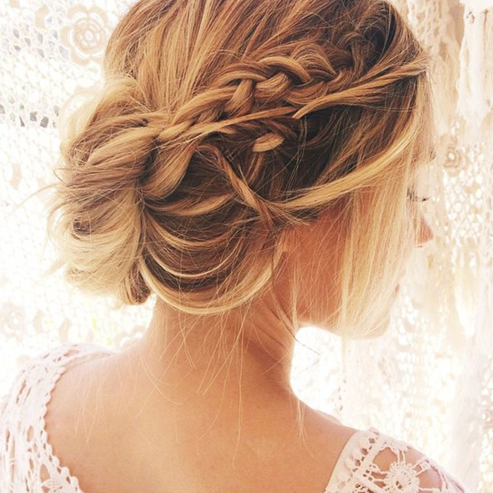 15 Updos For Thin Hair That You'll Love Pertaining To Low Petal Like Bun Prom Hairstyles (View 23 of 25)
