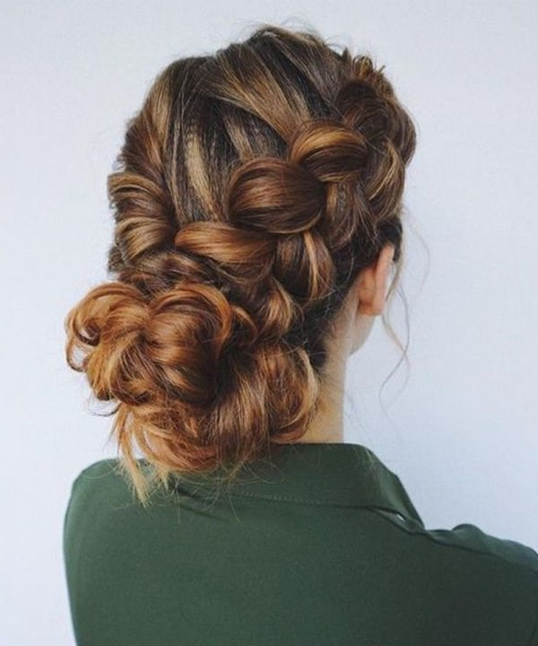 154 Updos For Long Hair Featuring Beautiful Braids And Buns In Twisted And Curled Low Prom Updos (View 24 of 25)