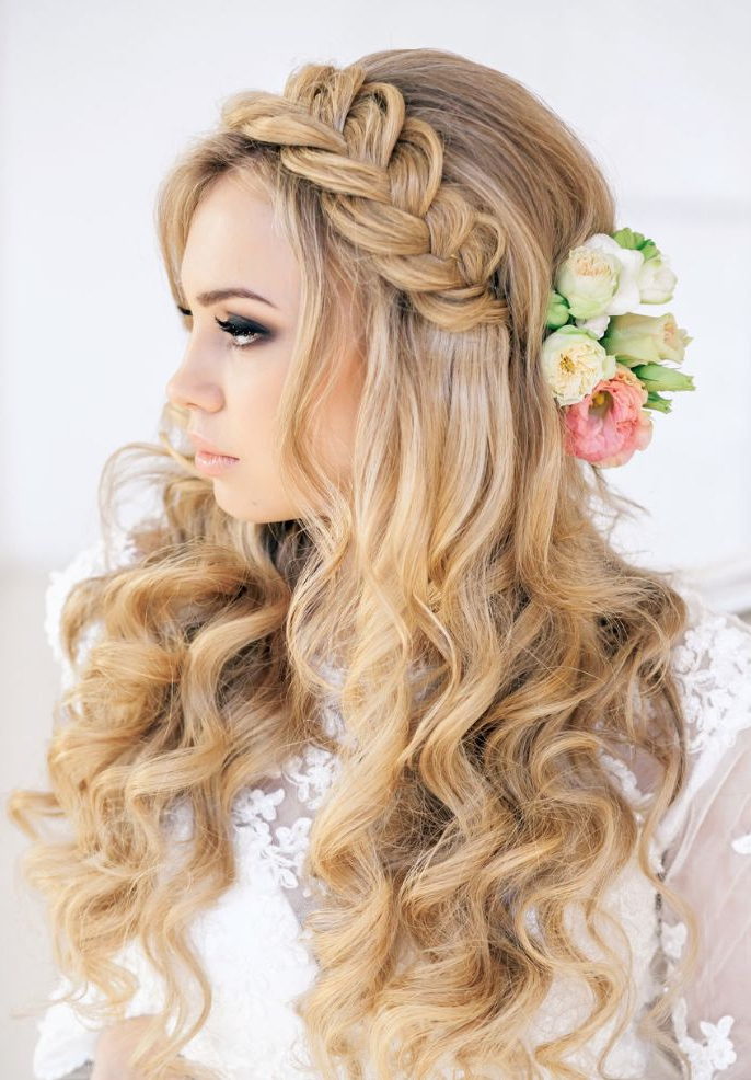 16 Glamorous Bridesmaid Hairstyles For Long Hair – Pretty Designs For Long Hairstyles Bridesmaids (View 17 of 25)