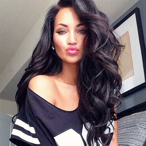 16 Sexy Long Wavy Hairstyles To Turn Head : Easy Long Wavy Inside Long Hairstyles Black Hair (View 10 of 25)