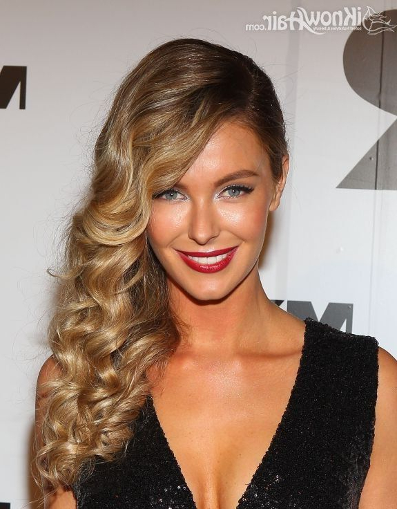 Featured Photo of Pinned Up Curls Side Swept Hairstyles