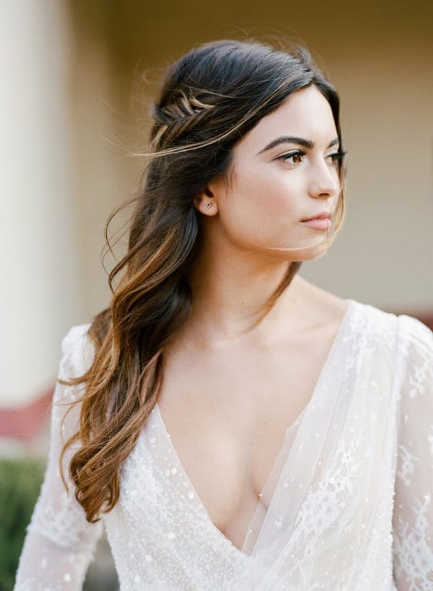 17 Gorgeous Half Up Half Down Wedding Hairstyles | Onefabday Inside Long Hairstyles For Weddings Hair Down (View 23 of 25)