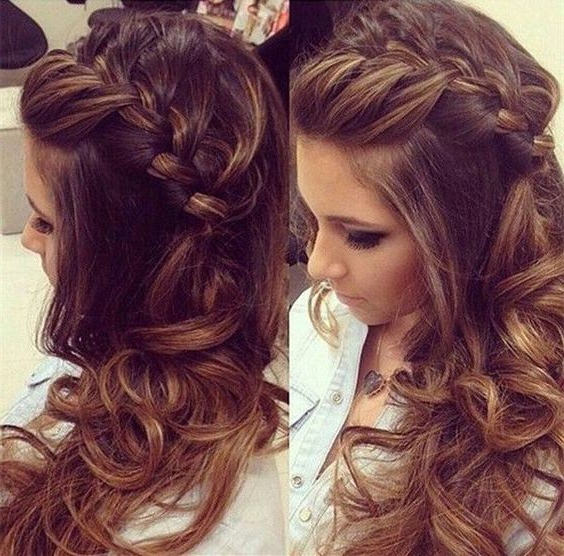 Featured Photo of Double Twist And Curls To One Side Prom Hairstyles