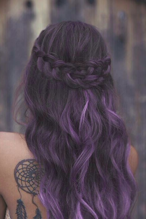 17 Stylish Hair Color Designs: Purple Hair Ideas To Try! – Popular Pertaining To Purple Long Hairstyles (View 21 of 25)