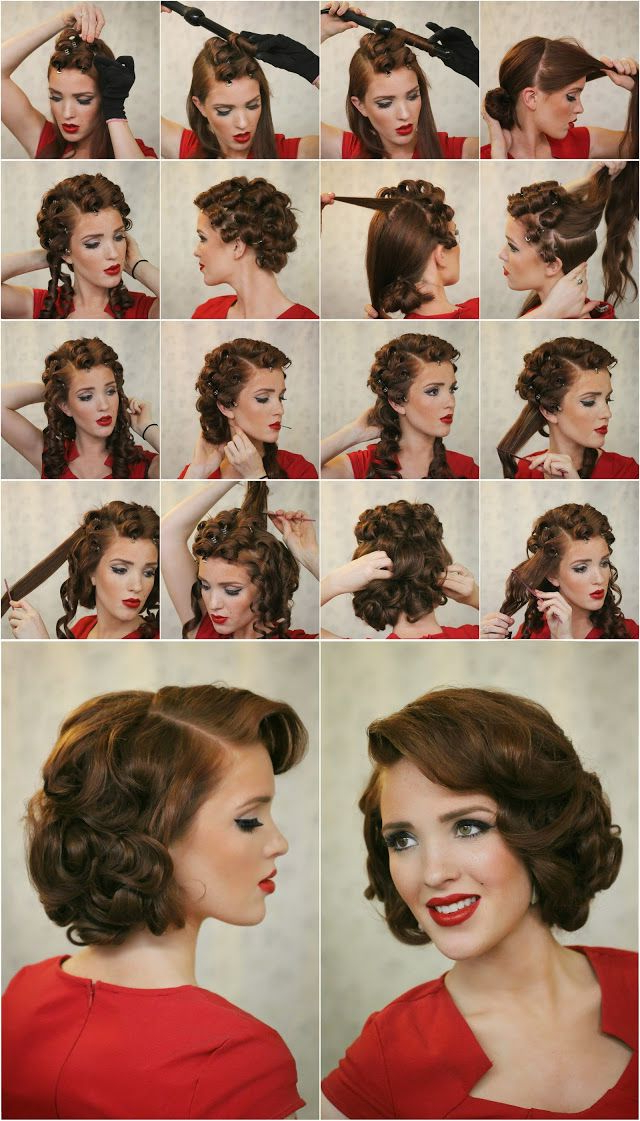 17 Ways To Make The Vintage Hairstyles I 2019 | Stuff | Easy Updo For Vintage Updos Hairstyles For Long Hair (View 9 of 25)