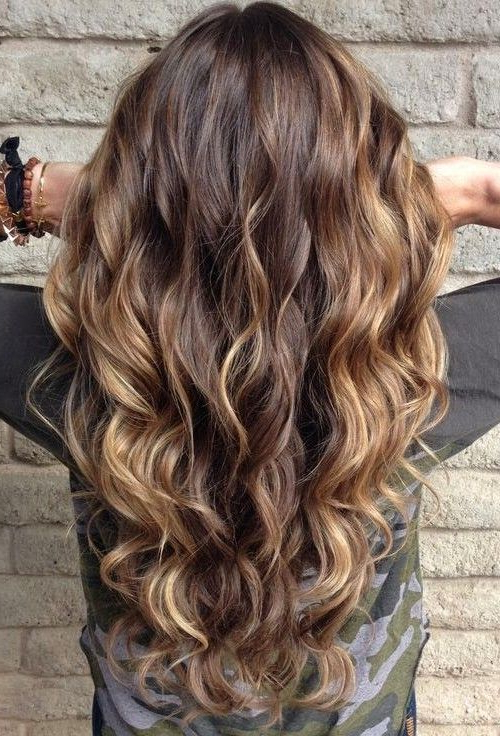 18 Balayage Hairstyles To Give You Ultimate New Look – Haircuts Regarding Curly Golden Brown Balayage Long Hairstyles (View 12 of 25)