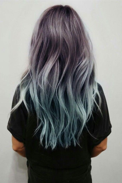 18 Beautiful Blue Ombre Colors And Styles – Popular Haircuts Throughout Long Layered Ombre Hairstyles (View 15 of 25)