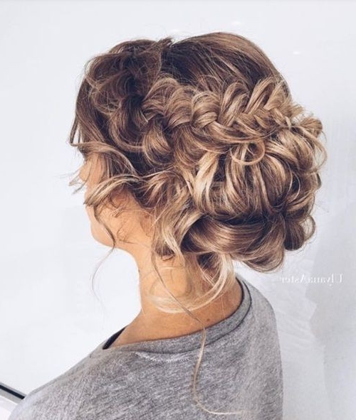 18 Elegant Hairstyles For Prom 2019 Within Curled Floral Prom Updos (View 25 of 25)