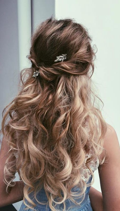 18 Elegant Hairstyles For Prom 2019 Within Gorgeous Waved Prom Updos For Long Hair (View 9 of 25)