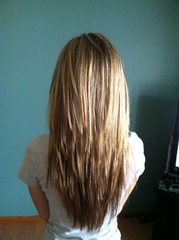 18 Freshest Long Layered Hairstyles With Bangs: Face Framing Inside Edgy V Line Layers For Long Hairstyles (View 4 of 25)