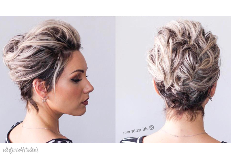 18 Gorgeous Prom Hairstyles For Short Hair For 2019 Inside Double Twist And Curls To One Side Prom Hairstyles (View 19 of 25)