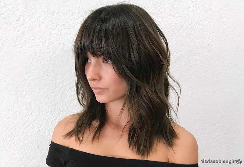 18 Hottest Layered Haircuts With Bangs For 2019 In Long Hairstyles Layered With Fringe (View 10 of 25)