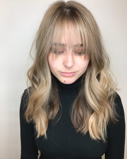 18 Hottest Layered Haircuts With Bangs For 2019 Within Long Hairstyles Layered With Fringe (View 18 of 25)
