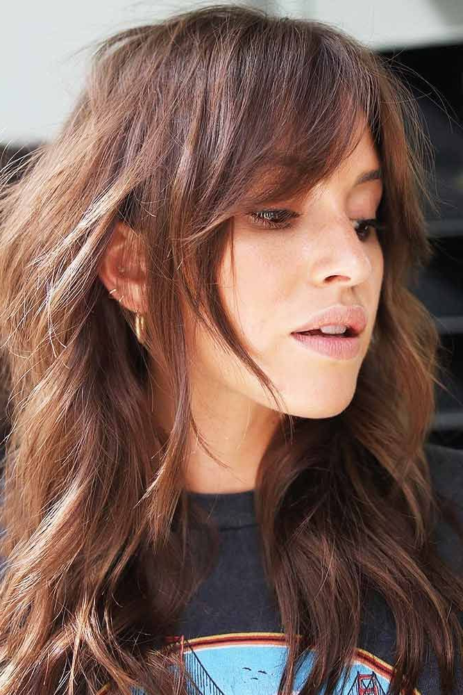 18 Looks With Side Bangs – A Detail That Can Enhance Your Image Intended For Long Hair Shaggy Layers (View 19 of 25)